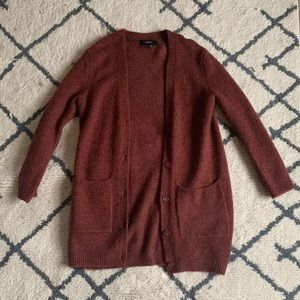 Forever 21 Maroon Cardigan Size Small